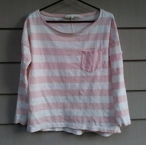Pink and white shirt striped